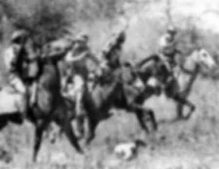 Rhodesian Police ride into tribal trust land