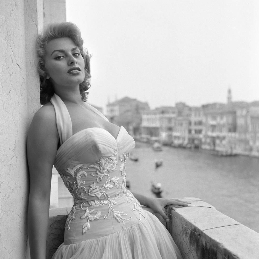 Portrait Of Sophia Loren 1955 Photographic Print For Sale