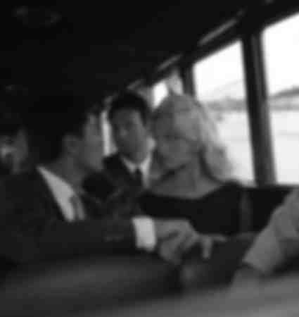 Sacha Distel and Brigitte Bardot at the Venice Film Festival