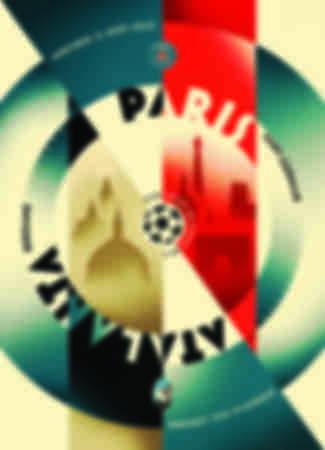 Paris - Atalanta match poster