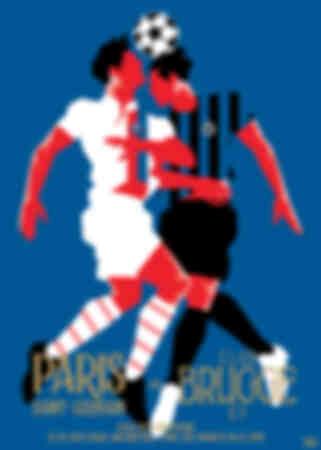 Affiche van de wedstrijd Parijs - Brugge