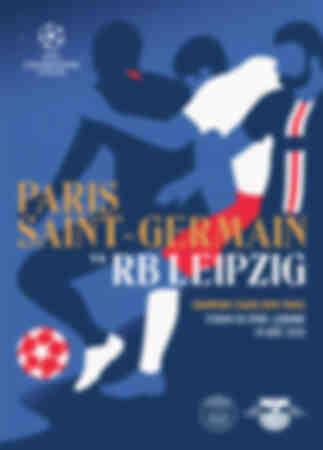 Póster del partido RB Leipzig - Paris Saint-Germain