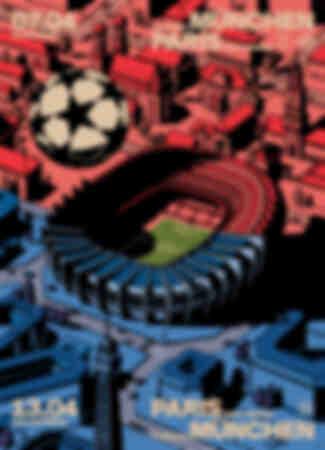 Affisch Paris Saint-Germain - FC Bayern München