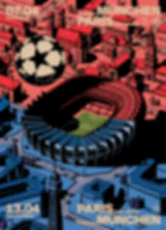 Póster Paris Saint-Germain - FC Bayern Múnich