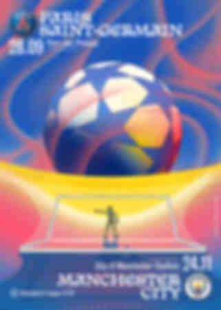 Affiche Paris Saint-Germain - Manchester City 21-22
