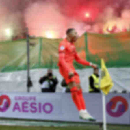 Feierlichkeiten zu Kylian Mbappé