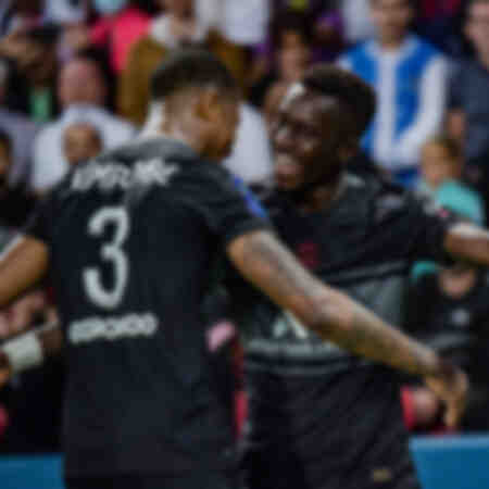 Célébration - Kimpembe et Gueye face à Montpellier