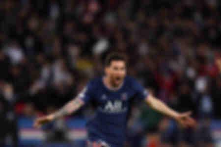 Célébration - Messi face à Manchester CIty