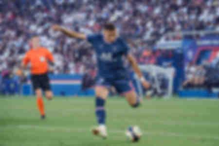 Kylian Mbappé en action face à Strasbourg