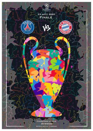 Affiche de la finale Paris Saint-Germain - Bayern Munich