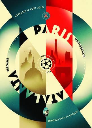 Affiche du match Paris - Atalanta