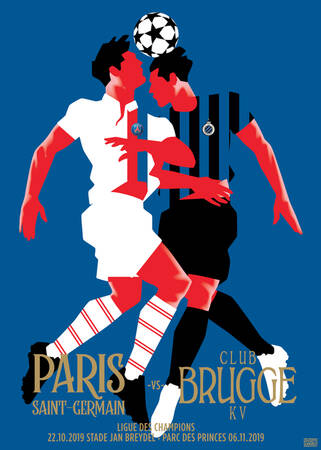 Affiche du match Paris - Bruges