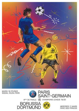 Affiche du match Paris - Dortmund
