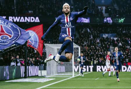 Célébration - Neymar Jr face à Monaco