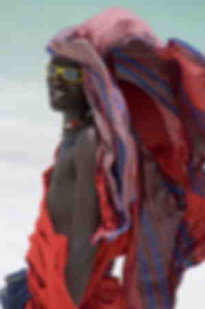 A Maasai tribesman on Paje Beach 2