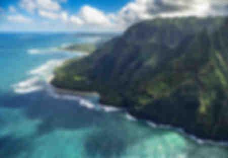 Die Küste von Na Pali aus der Luft
