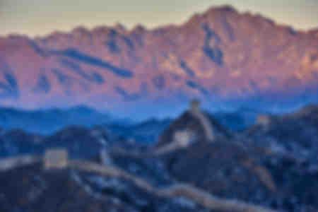 Vista aerea di Jinshanling e Simatai