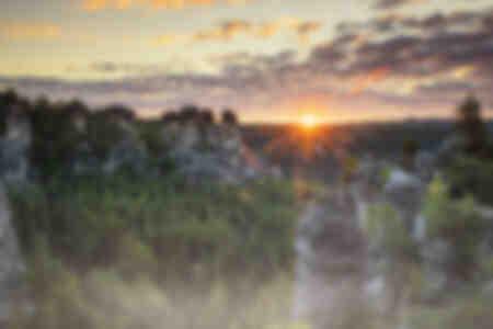 Bastei Rocks au lever du soleil