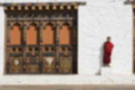 Buddhist monk Punakha Dzong