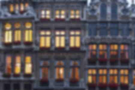 Façade de l'immeuble de la Grand Place Belgique