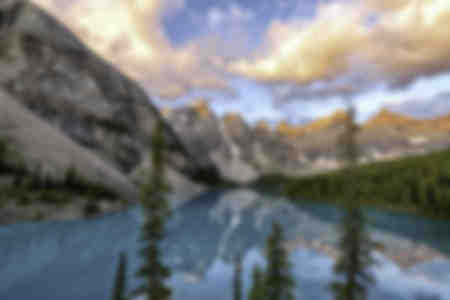 Lake Moraine in Banff National Park Alberta