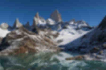 El Monte Fitz Roy reflejado en el Lago de los Tres