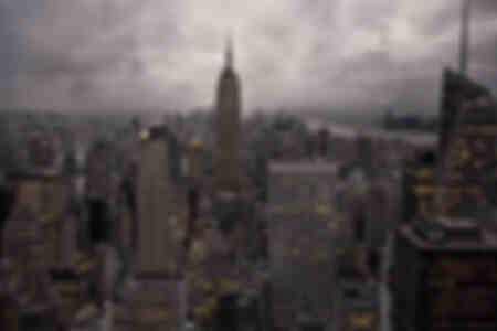 NYC skyline från höjder