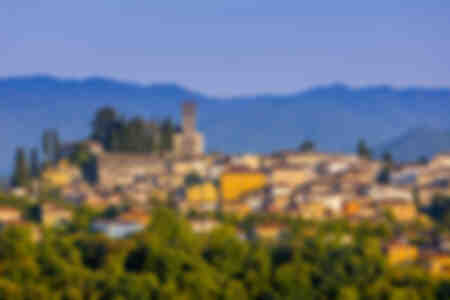Vista del horizonte de Barga Italia