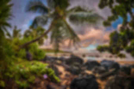 Lever du soleil à Hawaï