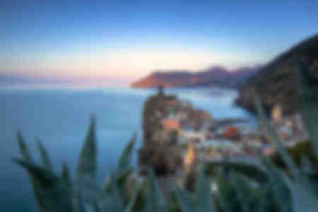 Sunrise on the village of Vernazza Italy