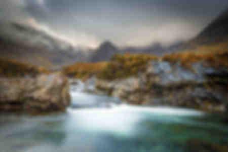 De svarta Cuillin-bergen