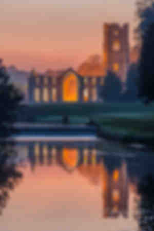 The Cistercian monastery of Fountains Abbey