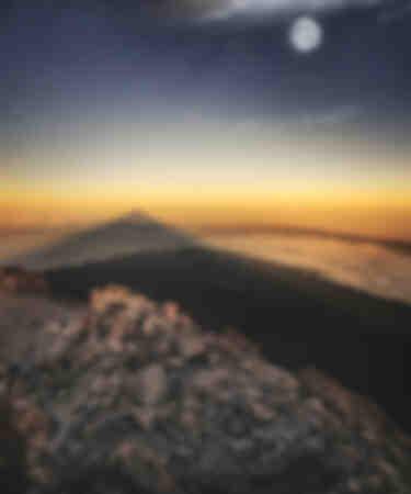 The Teide volcano shadow Canary Islands