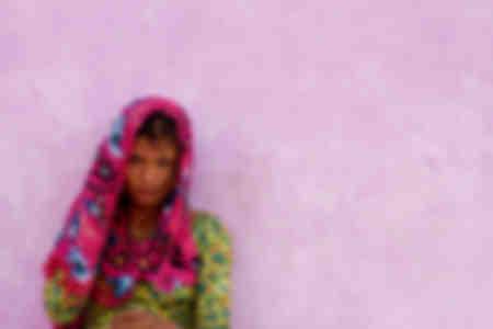 Woman in sari - Nepal