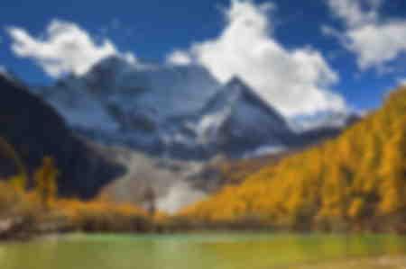 Berg Xiannairi und Perlsee