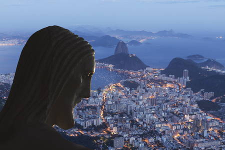 Head of statue of Christ the Redeemer