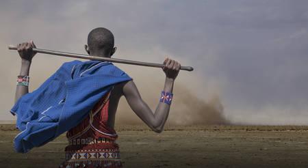 Massai-Mann im Amboseli-Nationalpark Kenia