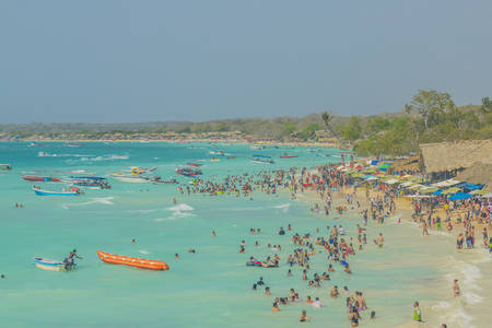 Playa Blanca beach in Cartagena Colombia