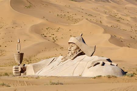 Statue of Gengis  Mongol emperor
