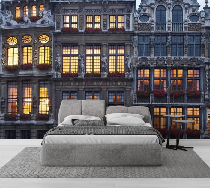 Grand Place building facade Belgium