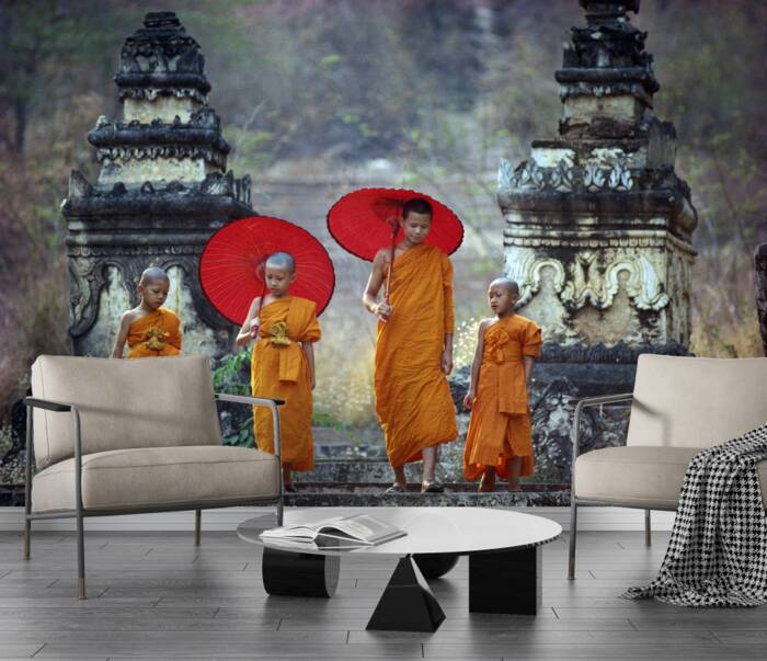 Novice Buddhist Monks