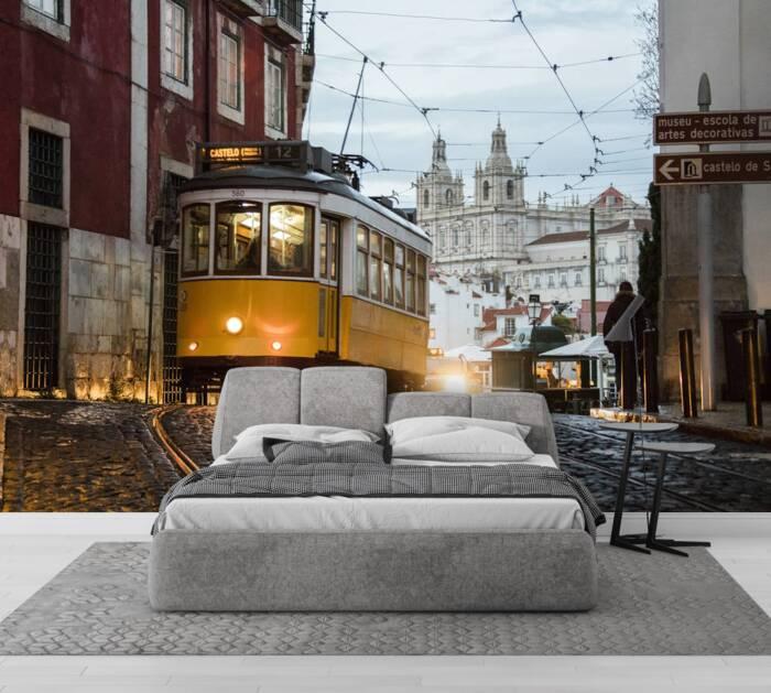 Romantische Atmosphäre in den alten Straßen