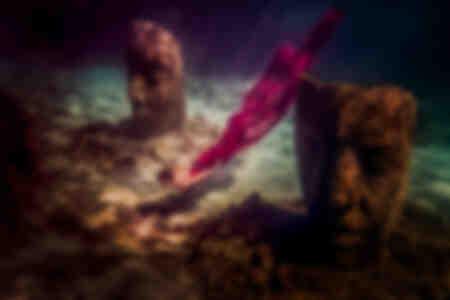Ange sous l'eau