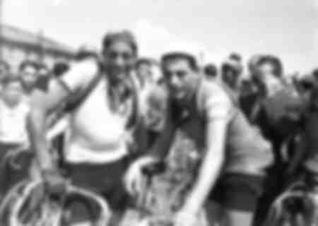 Fausto Coppi at the 1947 Giro d'Italia