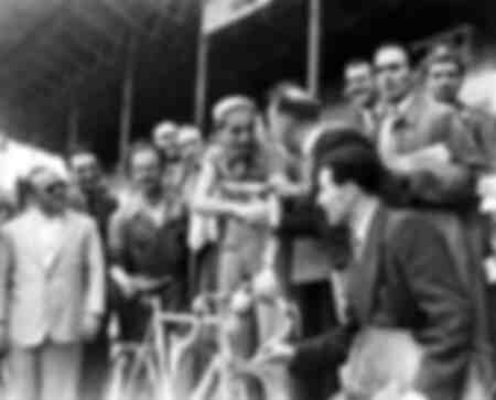 Fausto Coppi at the 1948 Giro d'Italia