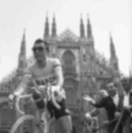Fausto Coppi at the 1955 Giro d'Italia