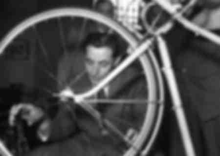 Fausto Coppi at Bianchi 1947
