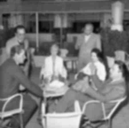 Federico Fellini à Cannes 1957