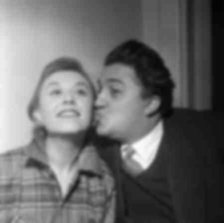 Federico Fellini and Giulietta Masina 1954