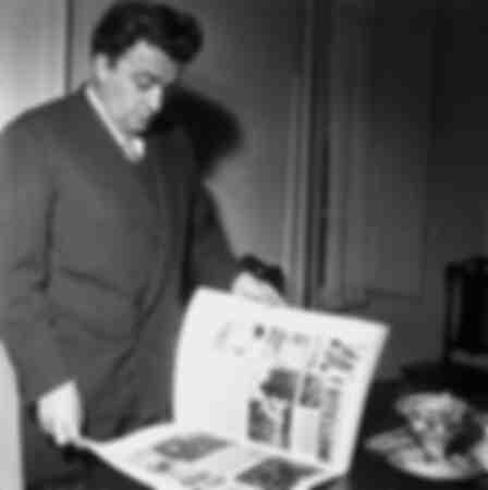 Federico Fellini nel 1958